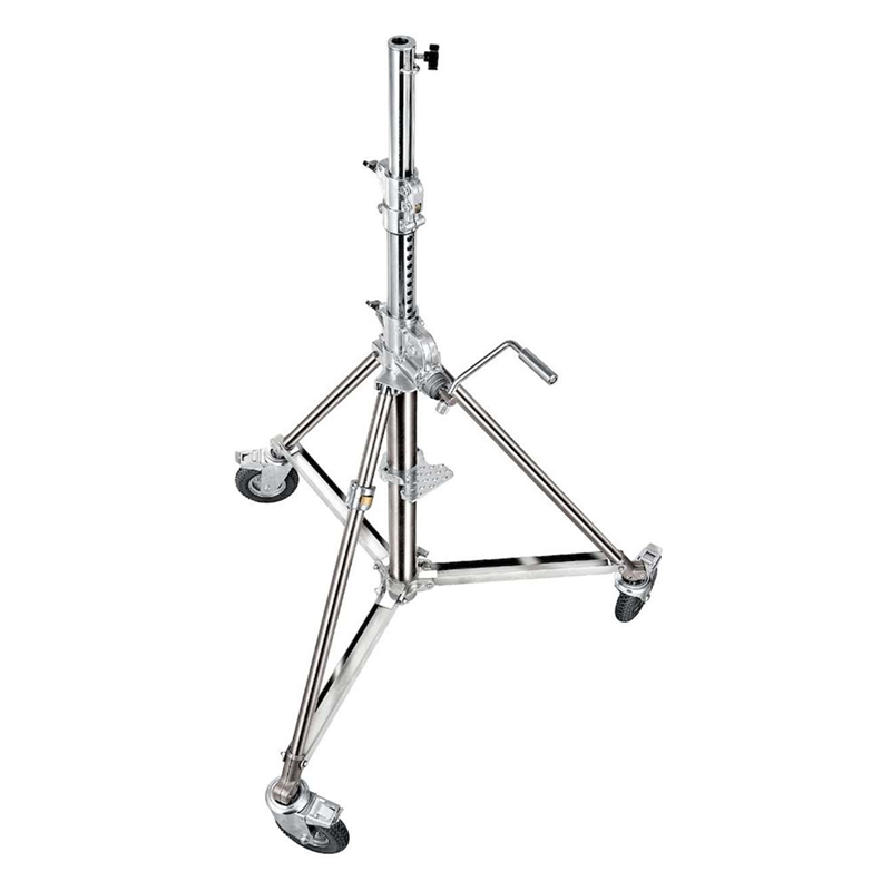 Super wind up stainless steel stand - 140/290 cm