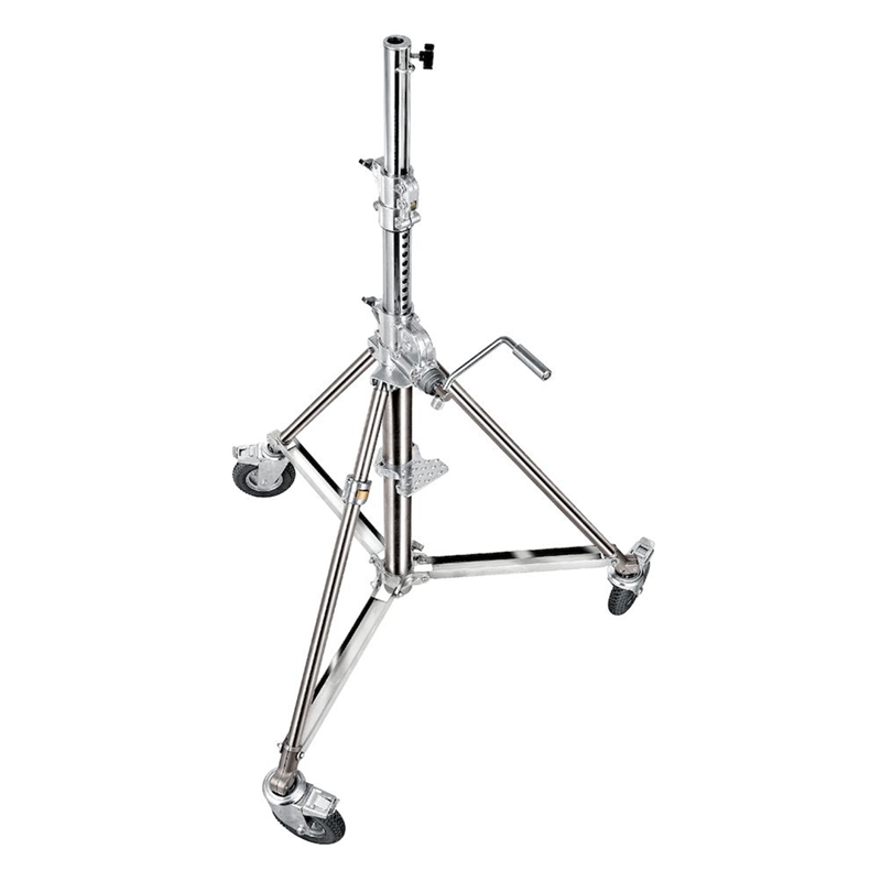 Super wind up stainless steel stand  140/290cm