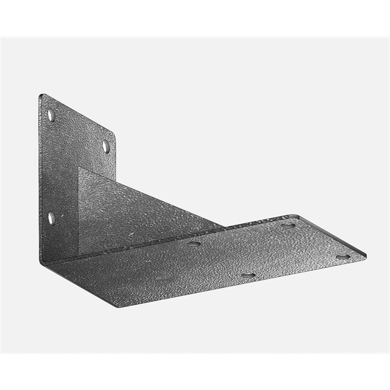 Wall bracket for one rail