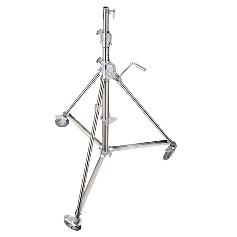 Super wind up stainless steel stand - 172/386 cm