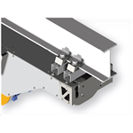 Unistrut interface clamp system - Allows motor winch unit or accessories to be mounted on any size of steel beam (either orthogonal or parallel).