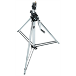 083NW - Wind up steel chrome stand, 1 risers, 139/247cm, 28-16 mm socket , 45 kg load