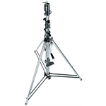 087NW - Wind up steel chrome stand, 2 risers, 167/370 cm, 28-16mm socket, 30 kg load