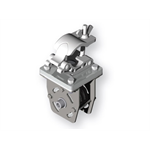 "Single mounting clamp - Strong aluminium clamp for attaching motor winch unit or any accessory to Ø50mm (2"") pipe or truss grid"